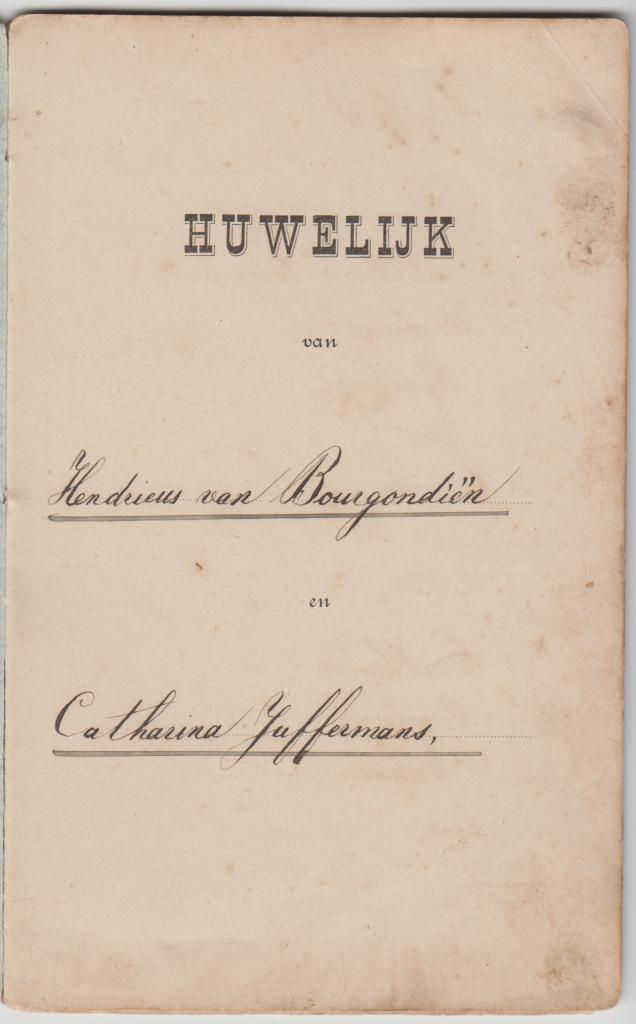 Trouwboekje Van Bourgondiën-Juffermans